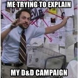 Charlie It's Always Sunny in Philly - Me trying to explain My D&D campaign