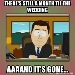 aaaand its gone - there's still a month til the wedding aaaand it's gone...