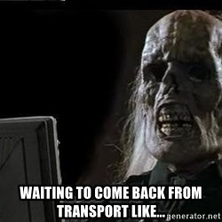 OP will surely deliver skeleton -  waiting to come back from transport like...
