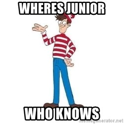 Where's Waldo - wheres junior who knows
