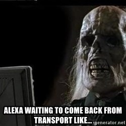 OP will surely deliver skeleton -  Alexa waiting to come back from transport like...