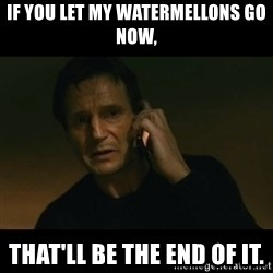 liam neeson taken - If you let my WATERMELLONS go now,  THAT'LL BE THE END OF IT.