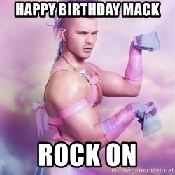 Unicorn Boy - Happy Birthday Mack Rock on