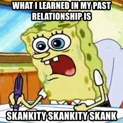 Spongebob What I Learned In Boating School Is - WHAT I LEARNED IN MY PAST RELATIONSHIP IS SKANKITY SKANKITY SKANK