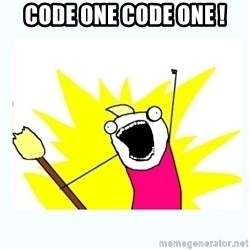 All the things - Code one code one !