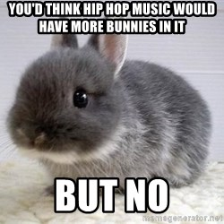 ADHD Bunny - You'd think hip hop music would have more bunnies in it but no