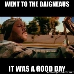 Ice Cube- Today was a Good day - Went to the daigneaus it was a good day