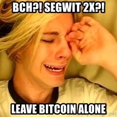 leave britney alone - BCH?! Segwit 2x?! Leave bitCOIN ALONE
