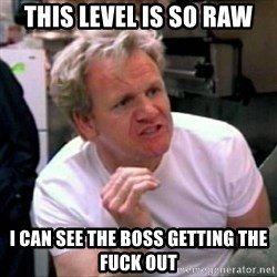 Gordon Ramsay - This level is so raw I can see the boss getting the fuck out