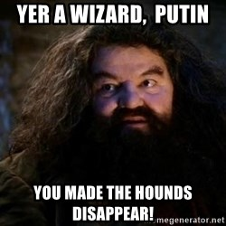 Yer A Wizard Harry Hagrid - Yer a wizard,  putin You made the hounds DISAppear!