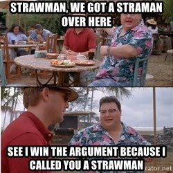See? Nobody Cares - Strawman, we got a straman over here see i win the argument because i called you a strawman