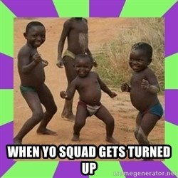 african kids dancing -  when yo squad gets turned up