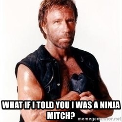 Chuck Norris Meme -  What if i told you i was a ninja mitch?