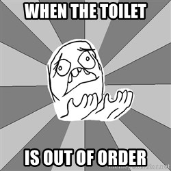 Whyyy??? - when the toilet is out of order