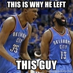 Kd & James Harden - This is why he left This guy