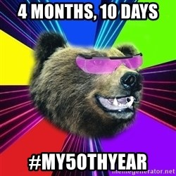 Party Bear - 4 months, 10 days  #my50thyear