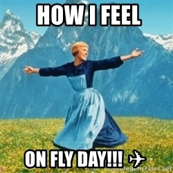 Sound Of Music Lady -  how I feel On fly day!!! ✈