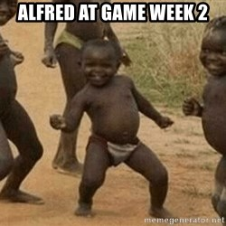 Success African Kid - Alfred at Game Week 2
