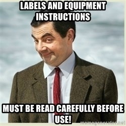 MR bean - Labels and equipment instructions must be read carefully before use!