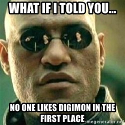 What If I Told You - what if i told you... no one likes digimon in the first place