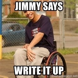 Drake Wheelchair - jimmy says write it up