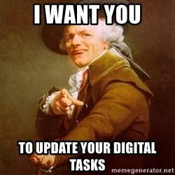Joseph Ducreux - I want you To Update Your Digital Tasks
