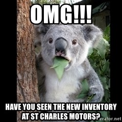 Koala can't believe it - omg!!! have you seen the new inventory at st charles motors?