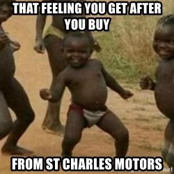 Black Kid - that feeling you get after you buy from st charles motors