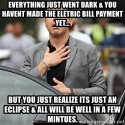 robert downey jr relieved - Everything just went dark & you havent made the eletric bill payment yet... but you just realize its just an eclipse & all will be well in a few mintues.