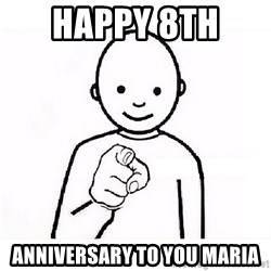 GUESS WHO YOU - Happy 8th  ANNIVERSARY to you Maria