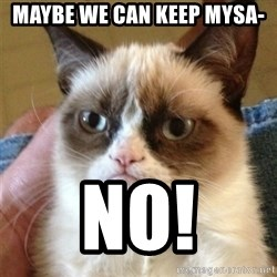 Grumpy Cat  - Maybe We can keep mysa- NO!