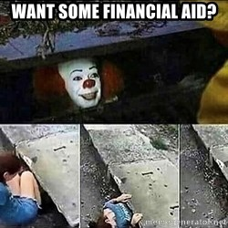 Stephen King IT Clown Sewer - Want some financial aid?