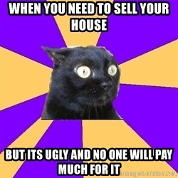 Anxiety Cat - WHEN YOU NEED TO SELL YOUR HOUSE BUT ITS UGLY AND NO ONE WILL PAY MUCH FOR IT