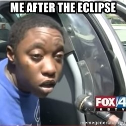 I'm Legally Blind - ME after the eclipse
