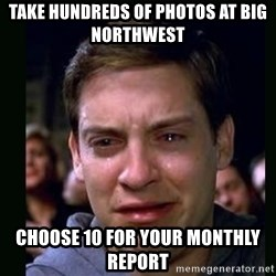 crying peter parker - Take Hundreds of photos at Big Northwest choose 10 for your monthly report