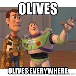 Toy story - olives olives everywhere