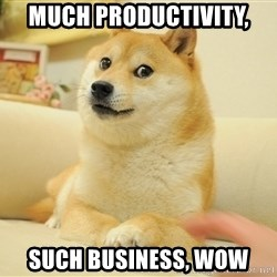 so doge - Much Productivity, SUCH BUSINESS, WOW