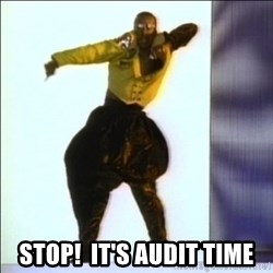 MC HAMMER Error -  STOP!  It's Audit time