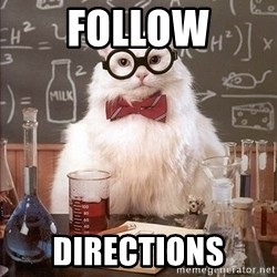 Chemistry Cat - Follow Directions