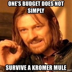 One Does Not Simply - One's budget does not simply Survive a kromer mule