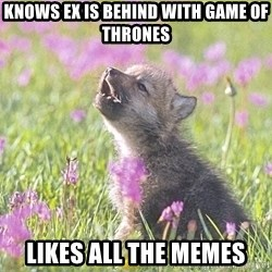 Baby Insanity Wolf - Knows ex is behind with game of thrones Likes all the memes