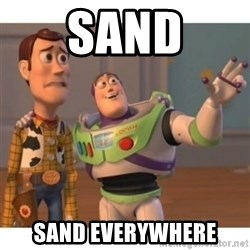 Toy story - sand sand everywhere
