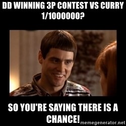 Lloyd-So you're saying there's a chance! - dd winning 3p contest vs curry 1/1000000? so you're saying there is a chance!