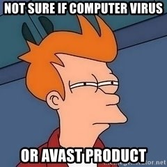 Fry squint - Not sure if Computer Virus Or Avast Product