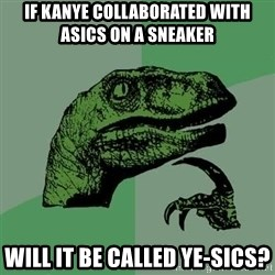 Raptor - If kanye collaborated with asics on a sneaker Will it be called ye-sics?