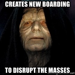 Star Wars Emperor - creAtes new boarding  To dIsrupt the masses