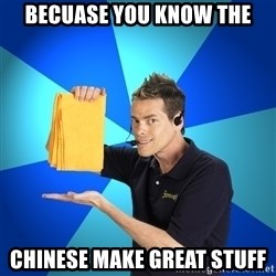Shamwow Guy - Becuase you know the chinese make great stuff