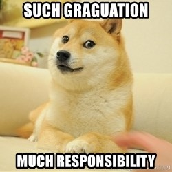 so doge - such graguation much responsibility