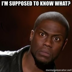 kevin hart nigga - I'm supposed to know what?