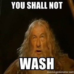 Gandalf You Shall Not Pass - YOU SHALL NOT WASH